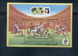 Yemen #448  (1990 World Cup sheet) VFMNH CV $3.00