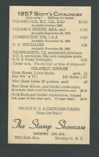 1956 Ux25 Posted Bklyn Ny The Stamp Showcase Selling Scotts Catalogues