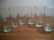 SET OF 6 AVON MRS. ALBEE GOLD RIMMED DRINK GLASSES TUMBLERS