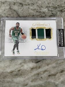 Kyrie Irving Auto Patch 2/10 2019-20 Panini Flawless