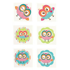 36 Assorted Fun Owl Kids Temporary Tattoos Party Favors