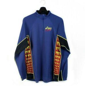 90s ASICS Tripaw vintage jersey sweatshirt longsleeves t-shirt rare nylon M L