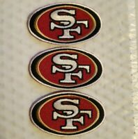 """Lof (3) NEW 2"""" X 3.25"""" INCH SAN FRANCISCO 49ERS IRON ON PATCH FREE SHIPPING"""