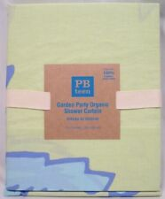 Pottery Barn PB Teen Periwinkle Organic Garden Party Shower Curtain