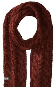 The North Face Cable Minna Scarf Deep Garnet Red, One Size NWT UniSex