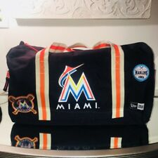 Miami Marlins New Era Heritage Patch Duffle Bag Black MLB