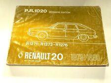 Manuel Catalogue Pièces Rechange RENAULT 20 1976 / 80  R20 car auto book
