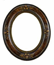 VICTORIAN OVAL WOOD PICTURE FRAME WITH GESSO APPLIED FRUITS