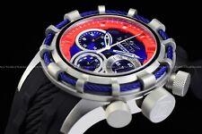 "Invicta Men's 50mm Bolt Sport ""Red Blue Macau"" Chronograph Silicone Strap Watch"