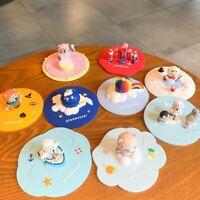 Starbucks Coffee Mug Silicone Covers Glass Decoration Cups Lids Sakura 3D Animal