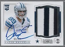 2013 National Treasures Gavin Escobar On Card Auto 2 Color Patch Rc  # /99 MINT
