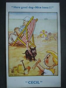 "D W Raines Vintage Unused Comic Post Card ""Cecil"""