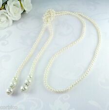 N1 lungo Knotted Faux Pearl SWEATER COLLANA vintage stile anni'20