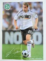 Riesen-Wendeposter Lukas Podolski / Deutsche Nationalmannschaft, Poster DIN A2
