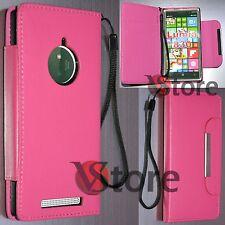 Custodia Cover Per Nokia lumia 830 Eco Pelle Fucsia + Pellicola Proteggi Schermo