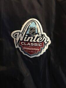 St. Louis 2017 NHL Winter Classic Nylon Lightweight Jacket Snap Mens M Blues