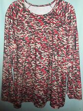 Plus Size Anne Klein Sport Long Sleeve Activewear Top Size 2x New With Tags