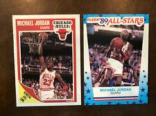 1989-90 Fleer Michael Jordan #21 & Jordan Sticker #3 Lot of 2!  Investment GOAT