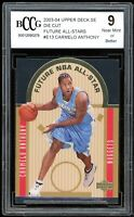 2003-04 UD SE Die Cut Future #E13 Carmelo Anthony Rookie BGS BCCG 9 Near Mint+