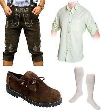 5-teiliges Trachtenset D Trachtenlederhose 46-60 Träger,Schuhe,Hemd,lange Socken