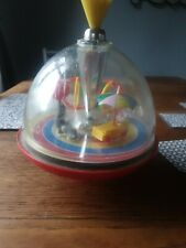 VINTAGE SPINNiNG TOP  Circus  TOY WITH SOUNDS WORKING.