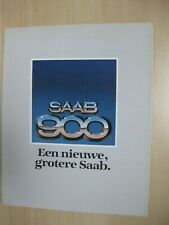 Saab 900 incl. Turbo prestige brochure Prospekt Dutch text 32 pages 1978 1079