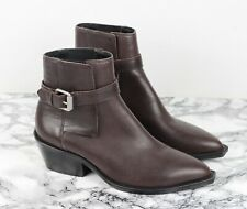 ALL SAINTS Sample Sale Brown Leather Western Cuban Ankle Boots Size EU 38, UK 5