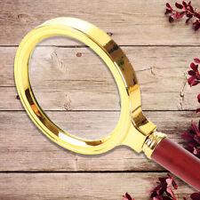 36mm 20X Magnifying Glass Optical Lens Rosewood Handheld Gold Tone Diameter Tool