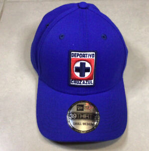 NEW ERA 39THIRTY CRUZ AZUL CLUB FLEX Blue HAT Sz S-M Small Medium Mexico Futbol