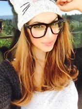 Oversized Nerd Geek Black Eyeglasses Thick Frame Men Women Specs BLACK