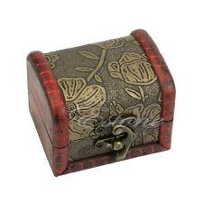 Rétro étui en bois bracelet perle bijoux cadeau collier stockage boîte à bijoux