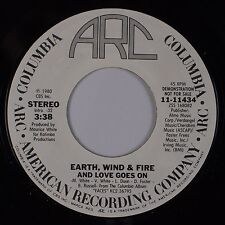 EARTH, WIND & FIRE: And Love Goes On ARC Funk Soul DJ PROMO 45 NM- Disco