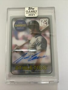 2021 Topps Clearly Authentic Jose Canseco Auto