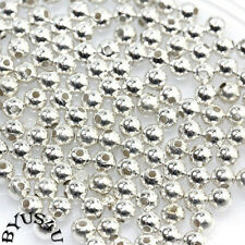 ACRYLIC SPACER BEADS ROUND SMOOTH 3mm METALLIC SILVER 250pc