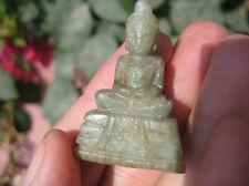 Vert Naturel Jade Bouddha Pierre Statue Minéral Art A9