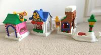 Fisher Price Little People Christmas town and 3 x figures