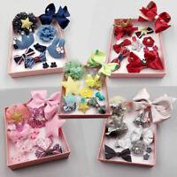 10Pcs/Set Baby Girls Boutique Head Clips Hair Bows Crown Princess Bobbles Gift