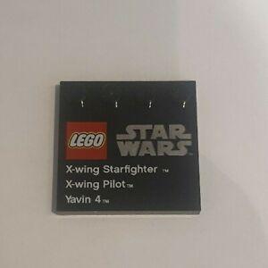 Lego Star Wars Figure Base. X-Wing Starfighter, X-wing Pilot, Yavin 4