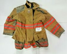 Cairns Woman's 44x32 Brown Firefighter Turnout Jacket Coat with Orange Tape J834