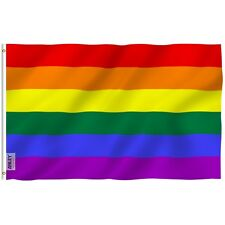 3x5' Foot Rainbow Flag 6 Stripes Gay Pride Banner Flag Polyester