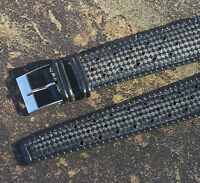 Black rubber 20mm Tropic watch band type perforated 1960s/70s 2 keepers 41 sold