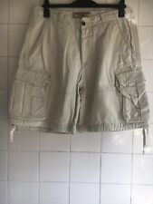 "Size 34"" Abercrombie & Fitch Men's Beige Cargo Shorts Used"