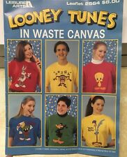 Looney Tunes in Waste Canvas Cross Stitch Patterns 1994 Leisure Arts 2564