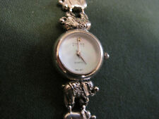 #93 ladys sterling silver elephant links SINCLAIR quartz watch bracelet