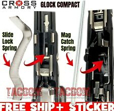 Cross Armory for Glock P80 Compact Size Slide Lock & Magazine Catch spring 1 2 3