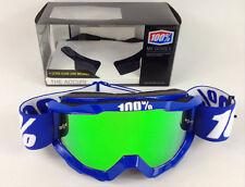 100% PORCENTAJE Accuri Mx Gafas de motocross Reflex Azul Con Verde Lentes Espejo