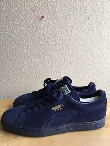 Puma Men's Suede Classic Retro Casual Sneakers Shoes Blue 356328 01 SZ 11 Pre-O