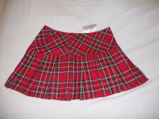 Royal Bones Hot Topic NWT Daang Goodman sexy S Red plaid skirt mini school girl