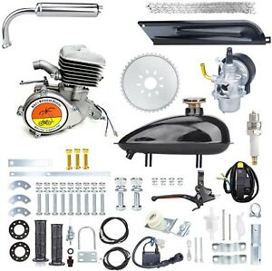 100CC Motorized Bicycle Gas DIY Engine Complete Motor kit - SILVER