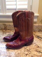 Mens Bona Allen Texas Cowboy Boots Two Tone Carmel & Dark Brown 10 D